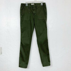 J. Crew Army Green Skinny Fit Cargo Pants
